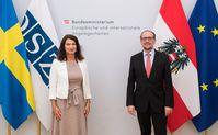 Ann Linde  und Alexander Schallenberg (2021)