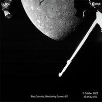 Die europäisch-japanische Raumsonde BepiColombo schickt erste Bilder von Merkur