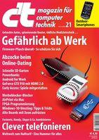 """Cover c't 21/15. Bild: """"obs/c't"""""""