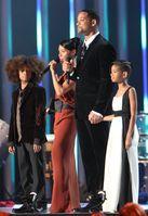 Will Smith und Jada Pinkett Smith mit ihren Kindern Jaden und Willow (2009)