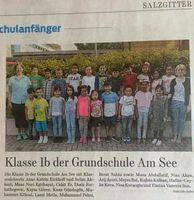 Typische 1. Klasse einer Grundschule in Deutschland - kaum bis keine Deutschen mehr