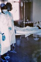 Quarantänestation eines Krankenhauses in Kinshasa