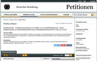 Bild: Screenshot der Petition 88260