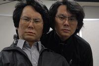 """Künstliches Double: Hiroshi Ishiguro und sein """"Geminoid"""". Bild: geminoid.jp"""