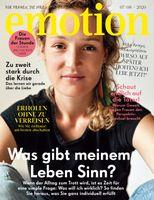 """EMOTION Verlag GmbH, Titelbild zu Ausgabe 07/08_2020, EVT: 24.06.2020, Titelthema: """"Was gibt meinem Leben Sinn?"""". Bild: """"obs/EMOTION Verlag GmbH/Puria Safary"""""""