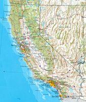 Geographische Karte Kaliforniens