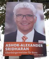 Ashok-Alexander Sridharan auf einem Wahlplakat der Kommunalwahl 2015