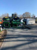 Unfallstelle am Dienstagmorgen, südlich von Soltau. Bild: Polizei