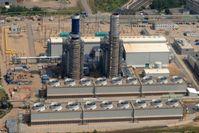 GuD-Kraftwerk von Statkraft mit zwei Gasturbinen im Chemiepark Knapsack.