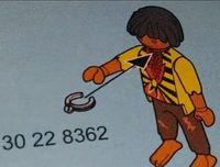 Playmobil-Bauanleitung: Sklave erhält Halsband. Bild: sacramento.cbslocal.com
