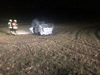 Ausgebrannter Opel Astra Bild: Polizei