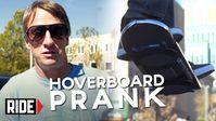 "Screenshot aus dem Youtube Video ""HUVr Tech - Tony Hawk Reveals Hoverboard Prank"""