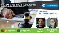 """Bild: SS Video: """"🔴 Klagepaten TV #18: Skandal-Entscheidung aus Karlsruhe! Ralf Ludwig spricht mit Friedemann Däblitz"""" (https://youtu.be/B2RrrcnQh4Q) / Eigenes Werk"""