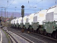 Transportbehälter des Typs TN 85 (Castor) des Atommülltransportes vom 9. November 2008 in das Transportbehälterlager Gorleben