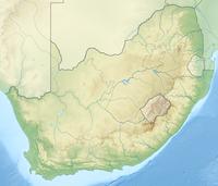 Geographische Karte Südafrikas