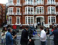 Die ecuadorianische Botschaft in London am 16. August 2012
