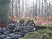 Panzergrenadiere im Alarmposten während der Grundausbildung