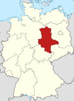 Lage von Sachsen-Anhalt in der BRD.