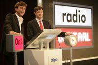 John de Mol (li.) mit Jan Peter Balkenende
