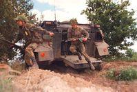 Deutsche Soldaten üben wieder, wie 1939, vor der russichen Grenze, diesesmal formal in einer Nato Übung.