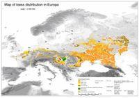 Europäische Lösskarte von 2007. Quelle: Dagmar Haase/UFZ