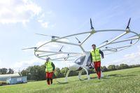 Der Volocopter bringt den Notarzt schnell zum Einsatzort.