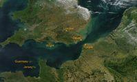 Ärmelkanal, Satellitenbild