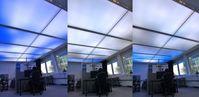 Die dynamische Lichtdecke vermittelt dem Büroangestellten das Gefühl, unter freiem Himmel zu arbeiten. Bild: Fraunhofer IAO (idw)