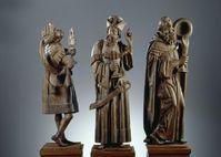 Heilige Drei Könige, Eichenholz, um 1490, Germanisches Nationalmuseum in Nürnberg (Symbolbild)