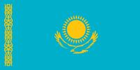 Flagge der Republik Kasachstan