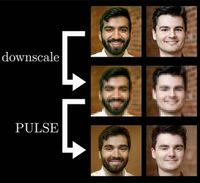 Selbstversuch: Forscher original, verpixelt und KI-erzeugt.