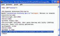 Screenshot 1: Injizierter Schadcode