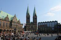 Bremer Rathaus, Dom und Bürgerschaft