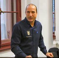 Peter I, König von Deutschland (2016), Bürgerlich: Peter Fitzek, im Gerichtsaal des LG Halle
