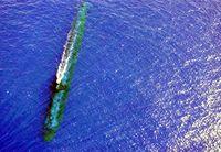 USS Chicago (SSN-721) auf Periskoptiefe (Symbolbild)