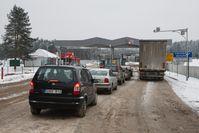 Grenzübergang in Katlouka zu Litauen