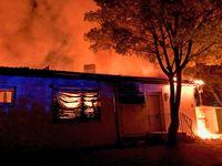 Das Vereinsheim brannte vollständig aus. Bild: Polizei