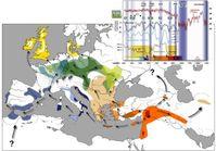 Ausbreitung der bäuerlichen Wirtschaft im westlichen Eurasien. Abb. aus Gronenborn 2009