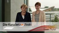 """Screenshot aus dem Youtube Video """"Merkel würdigt Engagement von Rettern und Helfern"""""""