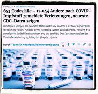 Immer mehr Menschen sterben an den Corona-Impfungen (Symbolbild)