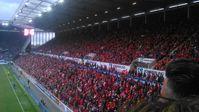 Blick in die Südtribüne der Opel Arena, März 2017