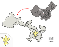 Lage von Dingxi