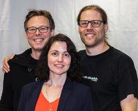 Anja Hirschel (Baden-Württemberg), Sebastian Alscher (Hessen) und René Pickhardt (Rheinland-Pfalz) führen die PIRATEN in den Wahlkampf. Bild: Piratenpartei Deutschland