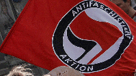 Antifa-Flagge (Symbolbild)