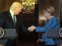 Bundeskanzlerin Angela Merkel und US-Präsident Donald Trump (2017)