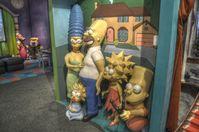 Die Simpsons-Familie als Wachsfiguren