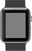 Eine schwarze Apple Watch Sport