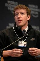 Mark Zuckerberg beim World Economic Forum, Davos, Schweiz (Januar 2009)