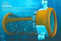 Müll-Drohne: Schickes Design, doch gegen Kleinstmüll chancenlos. Bild: Ahovi