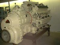 Der Reihensternmotor Swesda M503 mit 42 Zylindern in sieben Zylinderbänken zu jeweils sechs Zylindern (Verbrennungsmotor).